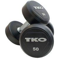 Hantle stalowe gumowane 2 x 4 kg  - 2 x 4 kg marki Tko