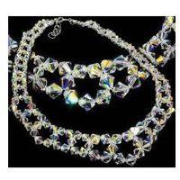 Arande Swarovski naszyjnik aurora crystal srebro ślub