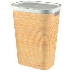 Kosz na bieliznę  infinity 60l - bambus marki Curver