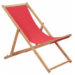 Czerwony leżak plażowy - inglis 2x marki Elior