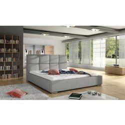 Białe łóżko tapicerowane SELA -polibox