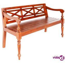 Vidaxl ławka batavia, 136 cm, lite drewno mahoniowe, ciemnobrązowa