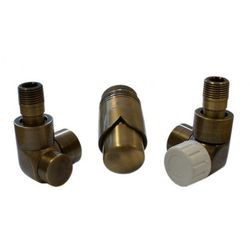 Grzejnik  603700053 zestawy łazienkowe lux gz ½ x złączka 16x2 pex osiowo prawy antyczny mosiądz, marki Instal-projekt