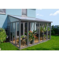 Ogrody zimowe veranda sanremo 3 x 4,25 m szara - transport gratis! marki Palram