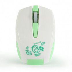 Mysz E-Blue Seico Minuscule, optyczna, bezprzewodowa, biało-zielona EMS615GRAA-IF Darmowy odbiór w 20 miastach! (6921607102741)