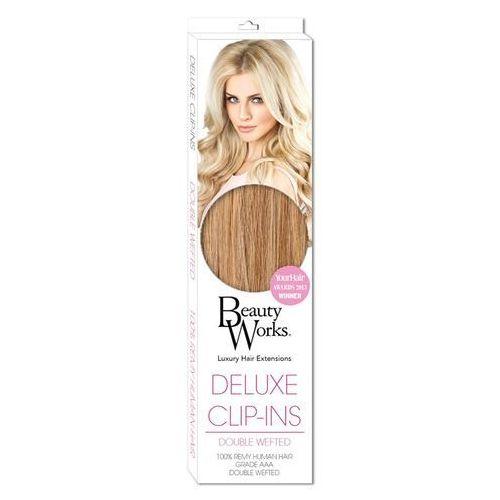 Beauty Works Deluxe Clip-In Hair Extensions 18 Inch - California Blonde 613/16 - z kategorii- pozostałe kosmetyki do włosów