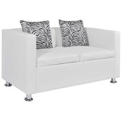 vidaXL Biała 2 osobowa sofa ze sztucznej skóry - sprawdź w wybranym sklepie