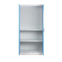 Szafa warsztatowa z perforowaną ścianką tylną, 2 półki