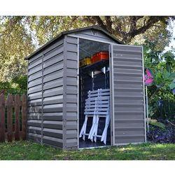 Palram Domek z plastiku do ogrodu skylight 4x6 szary - transport gratis!, kategoria: altany i domki ogrodowe