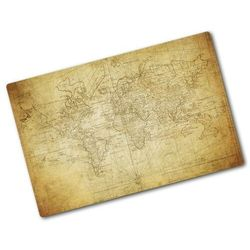 Wallmuralia.pl Deska kuchenna szklana stara mapa świata