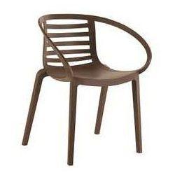 Wygodny fotel ogrodowy, taras, food court Mambo Papatya brązowy