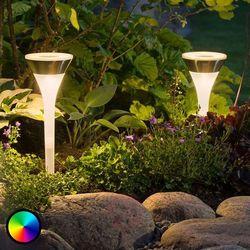 Lampa solarna wbijana w ziemię Assisi z RGB-LED (7318307808001)