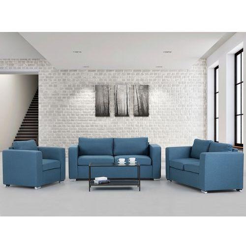 Zestaw wypoczynkowy niebieski - Sofa - trzyosobowa - dwuosobowa - fotel - HELSINKI - sprawdź w Beliani