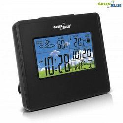 Greenblue stacja pogody zegar kalendarz fazy księżyca gb148 b black marki Green blue