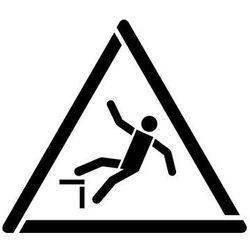 Szablon do malowania Znak ostrzeżenie przed upadkiem GW008 - 17x20 cm