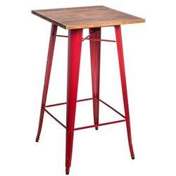 D2.design Stół barowy paris wood sosna - czerwone (5902385713719)