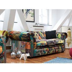 Beliani Sofa patchwork żółta - wypoczynek - tapicerowana - chesterfield (7081458453023)