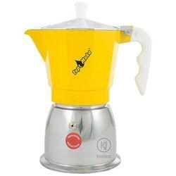 Kawiarka na indukcję Top Moka Top 6 filiżanek - Srebrno żółta