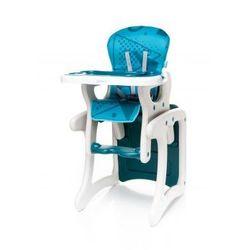 4baby  fashion krzesełko do karmienia + stolik 2 w 1 turkus model 2017