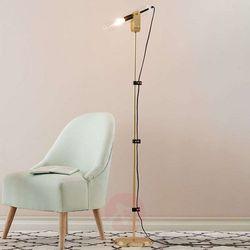 Lampa podłogowa WINSTON floor bru.brass/clear glass 106842 - Markslojd – Rabat w koszyku (7330024567122)