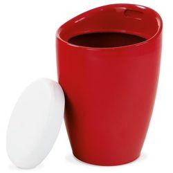 Taboret puf ze schowkiem, czerwony marki 4home