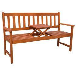 Vidaxl ławka ogrodowa z rozkładanym stolikiem drewna akacjowego