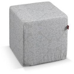 Dekoria Pufa kostka, połyskujący wzór na szarym tle, 40 × 40 × 40 cm, Venice