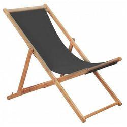 Szary składany leżak na plażę - inglis 2x marki Elior