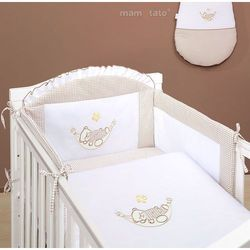 MAMO-TATO pościel 2-el Śpioch w hamaku brąz z białym do łóżeczka 70x140cm