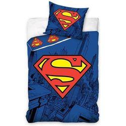 komplet pościeli superman, poszwa 160x200cm, poszewka 70x80cm marki Dekoria