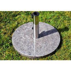 Podstawa okrągła z marmuru i stali nierdzewnej pod parasol 25kg