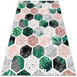 Dywanomat.pl Uniwersalny dywan winylowy uniwersalny dywan winylowy tropikalne hexagony