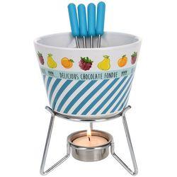 Eh excellent houseware Ceramiczny zestaw do czekoladowego fondue dla 4 osób
