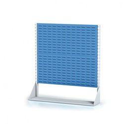 B2b partner Perforowany stojak z panelem na pojemniki, 2 piętra, podstawowe pole
