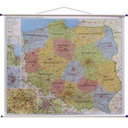 Polska mapa ścienna administracyjno-drogowa 1:700 000 Ekograf z kategorii mapy