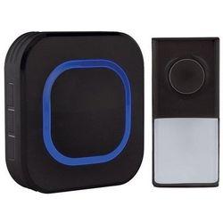 Solight bezprzewodowy dzwonek do drzwi, do gniazda, 250 m, czarny, learning code