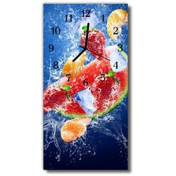 Zegar szklany pionowy kuchnia owoc obraz nadruk kolorowy marki Tulup.pl