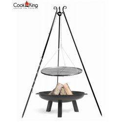 Zestaw GRILL stal czarna + palenisko POLO - 4 rozmiary, CookKing