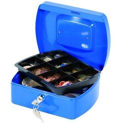 Q-connect Kasetka na pieniądze , średnia, 205x85x160mm, niebieska