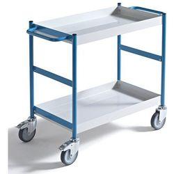 Wannowy wózek serwisowy, poj. 10 l, 2 wanny. Nośność 150 kg. Wysokiej jakości la