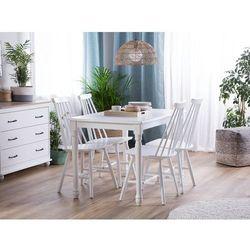 Beliani Stół do jadalni biały 120 x 75 cm cary (4260624112848)