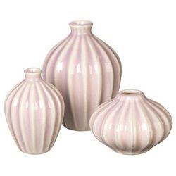 Zestaw trzech wazonów Amalie