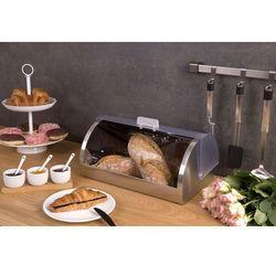 Secret de gourmet Praktyczny chlebak na pieczywo, szary, podnosza pokrywa z tworzywa sztucznego, metalowa obudowa, akcesorium kuchennej (3560234486171)