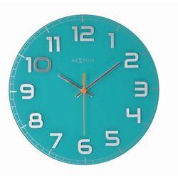 - zegar ścienny classy 30 cm - turkusowy marki Nextime
