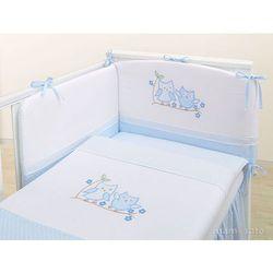 MAMO-TATO pościel 2-el Sówki uszatki błękitne do łóżeczka 60x120cm