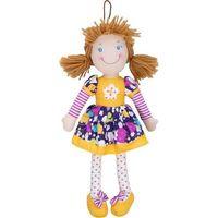 Lalka Cornelia 38 cm, sukienka fiolet w kwiaty - Beppe