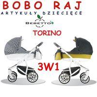 WÓZEK GŁĘBOKO-SPACEROWY FIRMY BEBETTO MODEL TORINO + Fotelik MAXI COSI model CITI