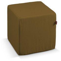 Dekoria  pufa kostka twarda, oliwkowy, 40x40x40 cm, taffeta do -30%