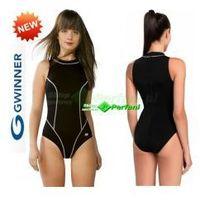 Otylia strój kąpielowy pływacki chloroodporny czarny  + czepek | wysyłka 24h, Gwinner