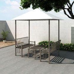 vidaXL Pawilon ogrodowy ze stołem i ławkami, 2,5 x 1,5 2,4 m (8718475849865)